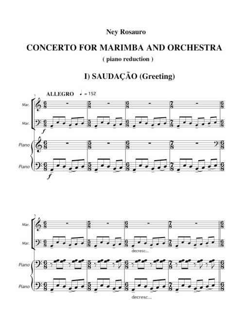 CONCERTO N 1 FOR MARIMBA